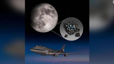 صورة اكتشاف غير مسبوق لجزيئات الماء على سطح القمر