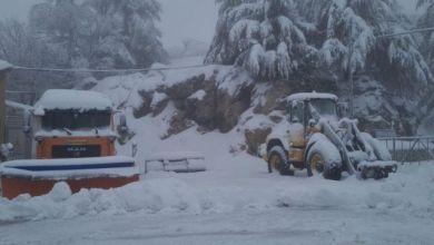 صورة حالة الطقس: أجواء ماطرة مصحوبة بعواصف رعدية وجبل الشيخ يكتسي الحلة البيضاء