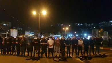 صورة ام الفحم : العشرات يتظاهرون احتجاجا على العنف