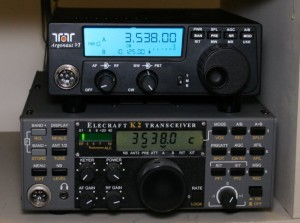 Size-wise, the Argonaut VI is smaller than the Elecraft K2 in every dimension.