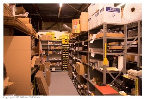 The warehouse area