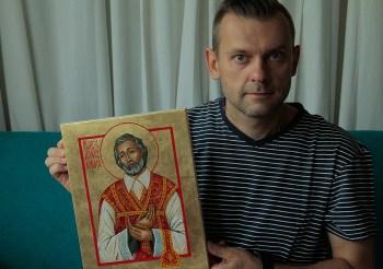 Ikona św Andrzeja Boboli