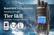 Radioddity GD-55 Plus UHF 400-480MHz Waterproof DMR Digital Radio,10W with 2800mAh Battery Mototrbo Dual Time Slot (Tier I&II)