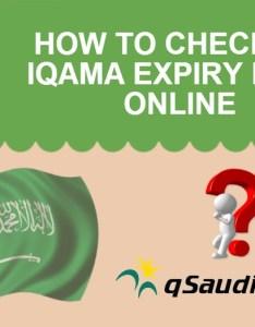 Ministry Of Interior Saudi Arabia Iqama Expiry Date - blogobovsem com