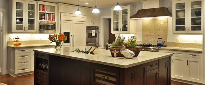 quartz kitchen countertops table bench seating naperville il