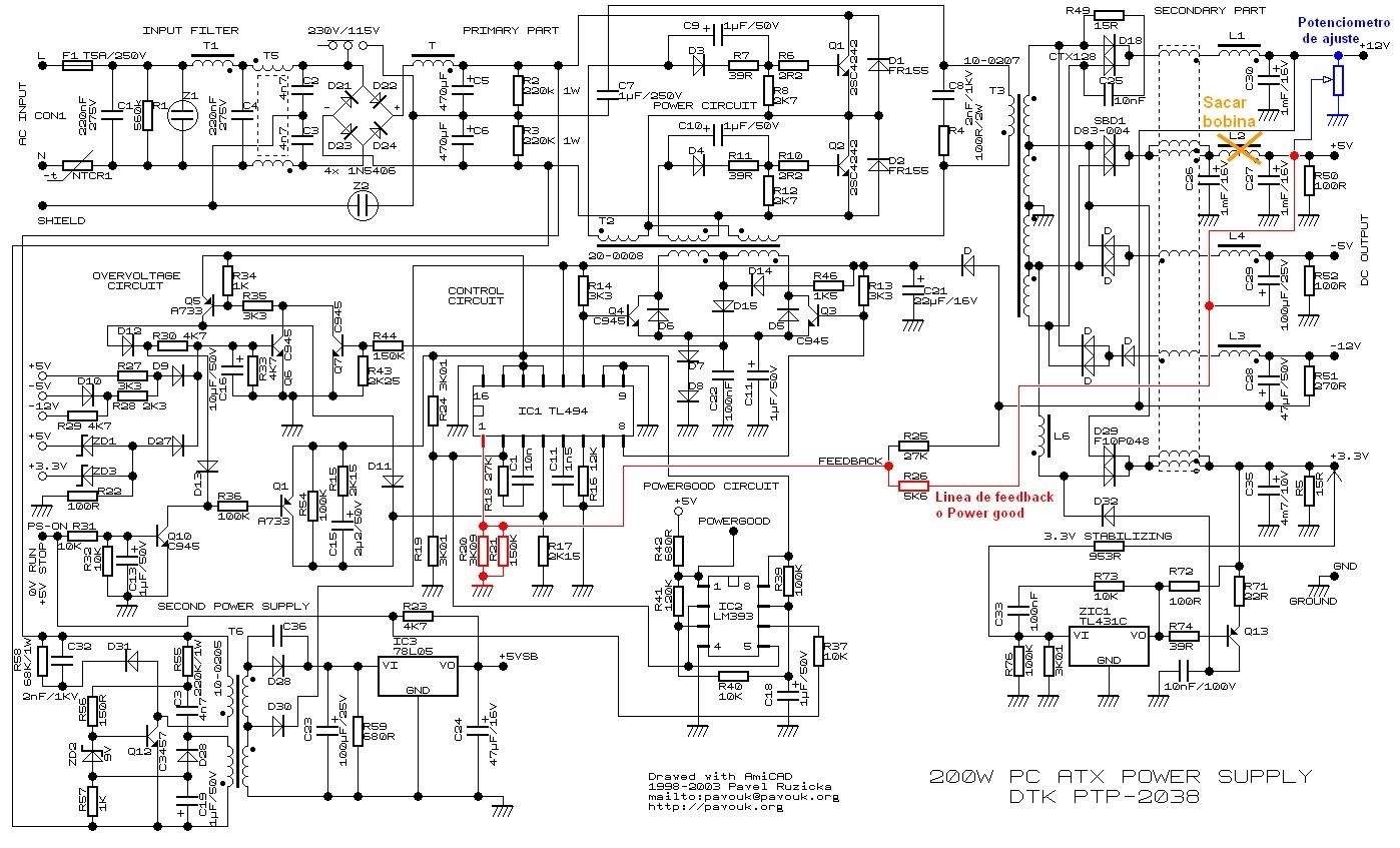 Modificación de fuentes de PC para Uso de Radioaficionados
