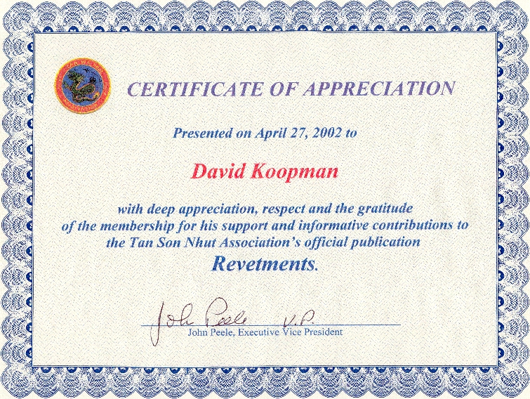 appreciation certificates wording samples