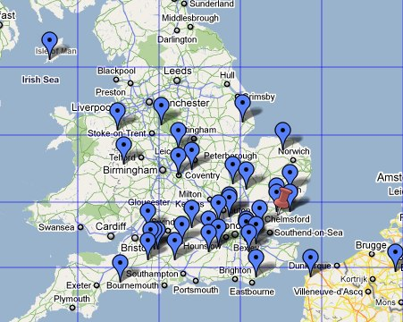 QSOs made by G0PKT during the February 2011 144MHz UKAC contest