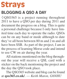 QSO365 in April 2011 QST