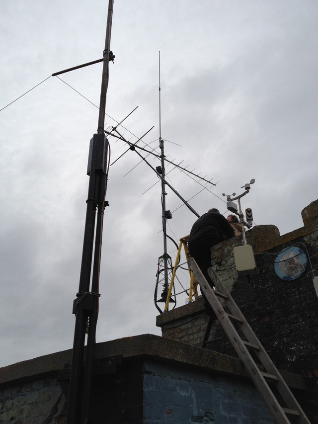 70cms beam on top, 2m beam going up