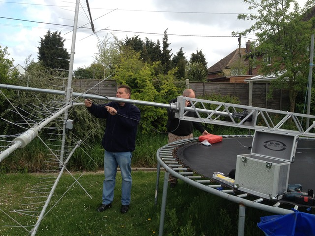 Colin starting to remove the MA-5B from my mast