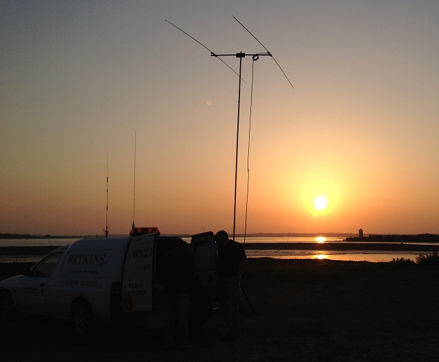 The 10m yagi at sunset