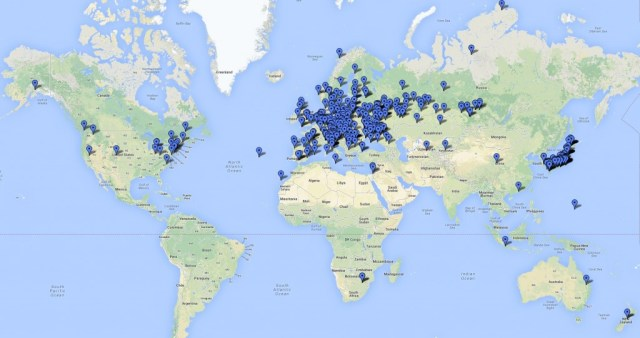 Stations worked by G6NHU during the JARTS WW RTTY Contest 2013