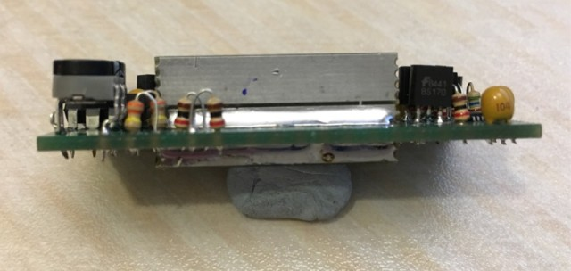 Side view of the finished OCXO
