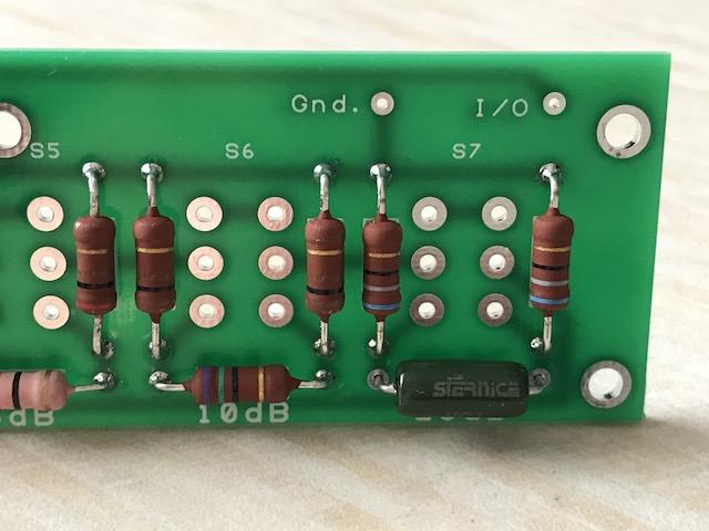 The non standard 270R resistor in the attenuator