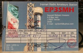 QSL card from EP3SMH in Iran