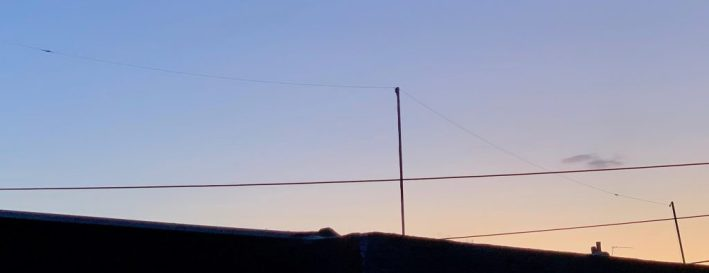 Dipole at sunset