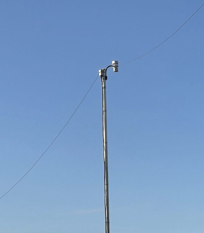 Anemometer on my dipole centre post