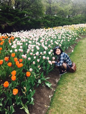Akiho at the Tulip Festival in Ottawa