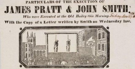 Sodomy execution of James Pratt and John Smith 1835