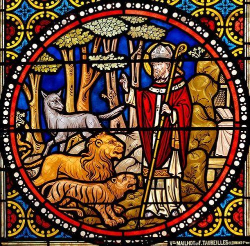 Saint Austremonius with wild animals