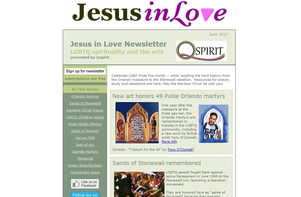 Jesus in Love / Q Spirit Newsletter sample issue