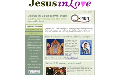Sign up: Free newsletter on LGBTQ spirituality and the arts