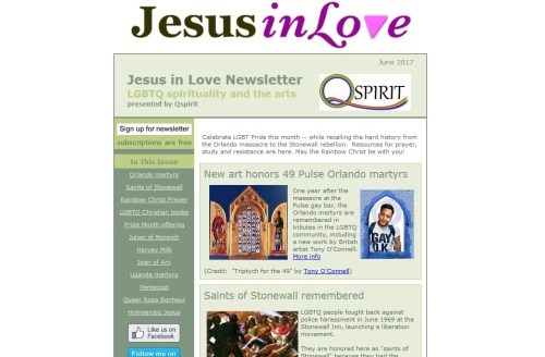 Jesus in Love / Q Spirit Newsletter sample issue