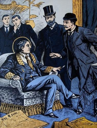 """""""Arrest of Oscar Wilde at the Cadogan Hotel"""" by McDermott & McGough"""