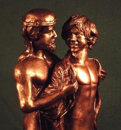 David and Jonathan sculpture by Malcolm Lidbury
