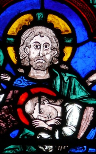 John and Jesus Bourges cathedral stained glass
