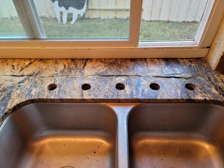 Cracked granite
