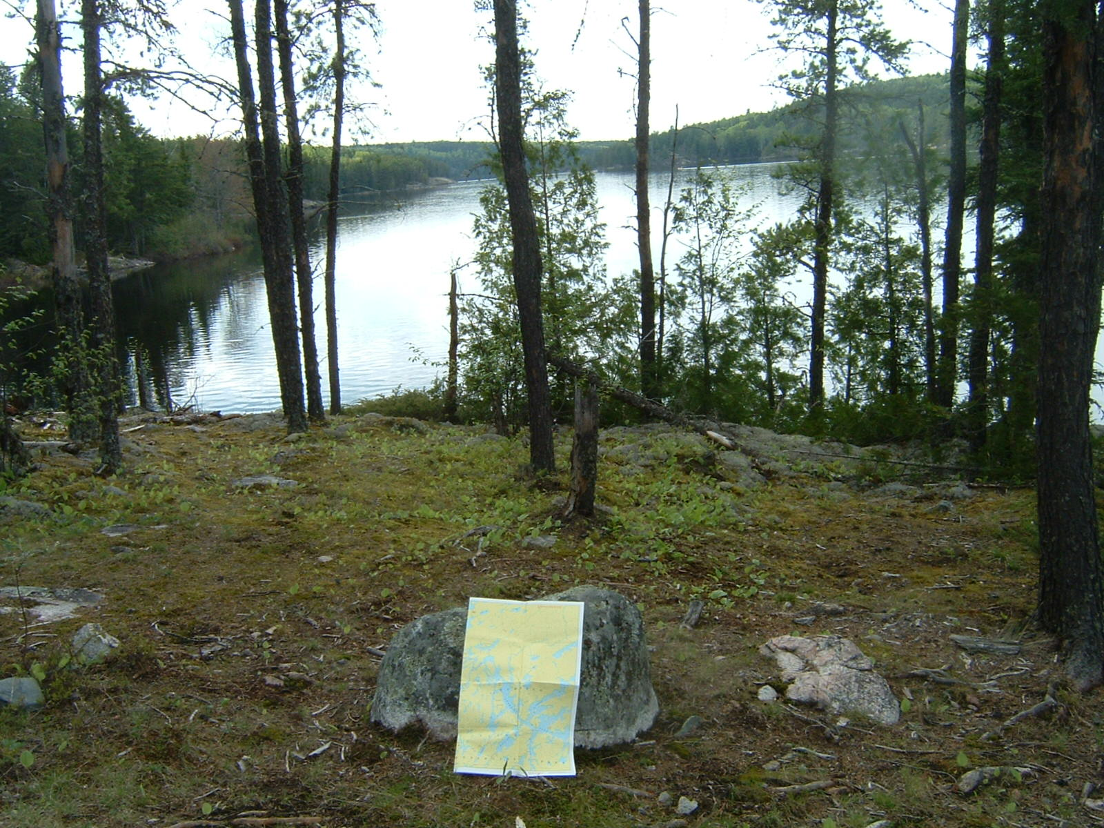 MAP SHOWING KAWNIPI LAKE