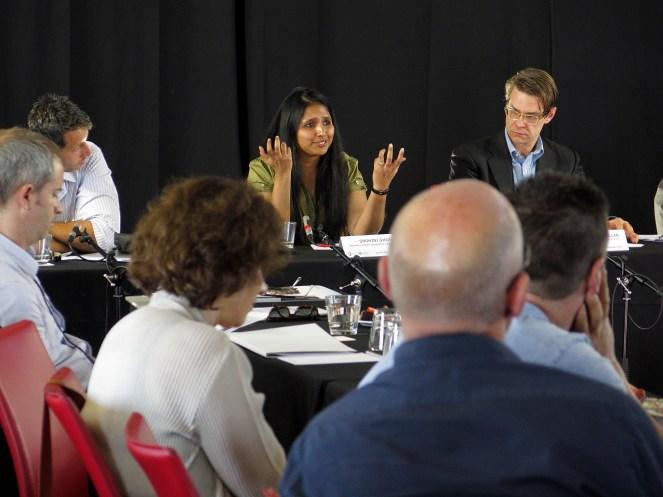 Shohini Ghose answering a question. Photo: Gilbert Bel-Bachir.