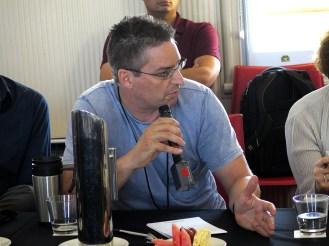 Martin Weber (UQ) in the Q&A session. Photo: Gilbert Bel-Bachir.