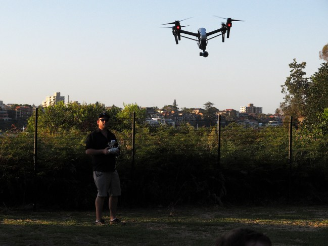 Flying the Q3 UAV at Q Station. Photo: Gilbert Bel-Bachir.
