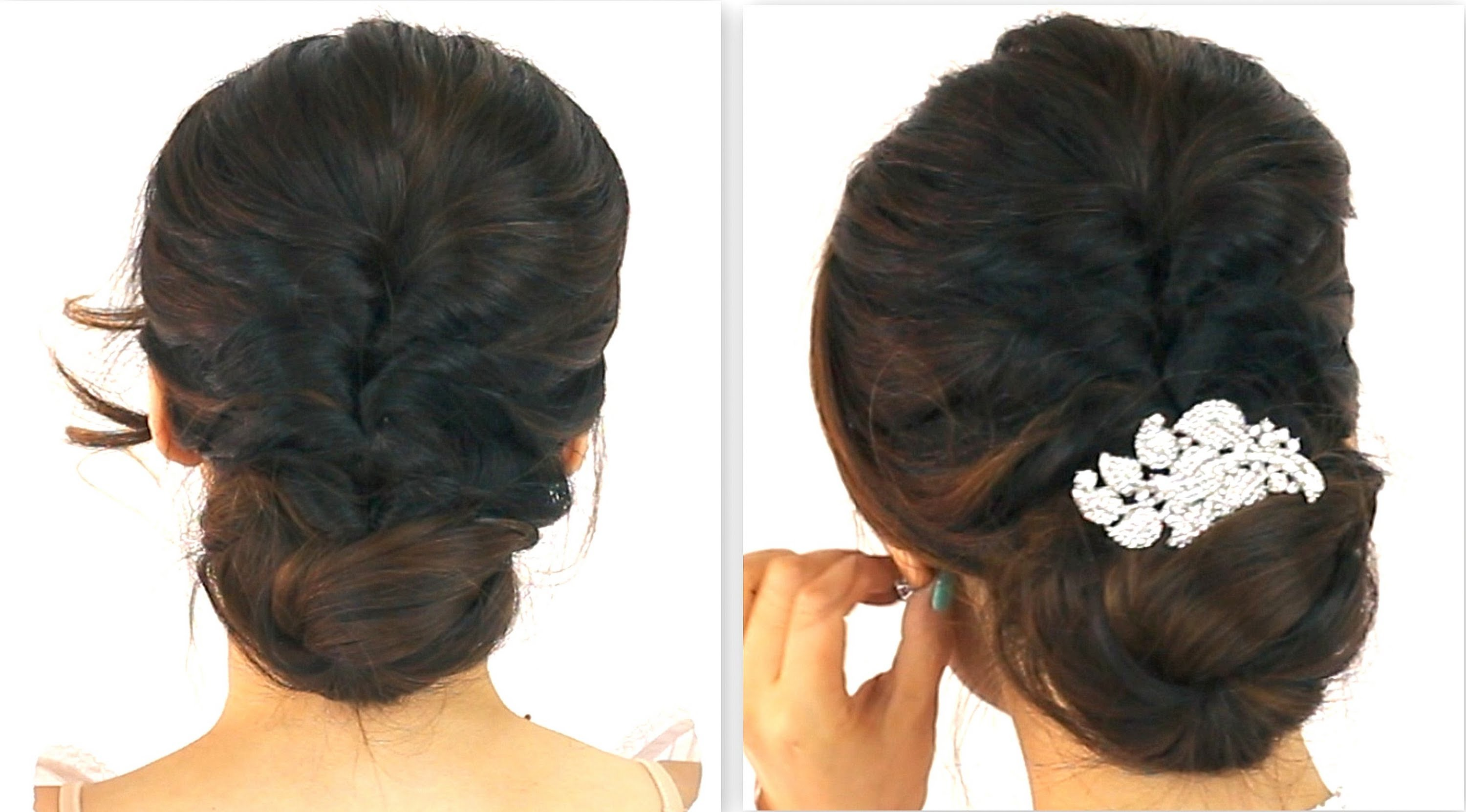 5MIN EASIEST PARTY UPDO EVERYDAY BRAIDED BUN FALL