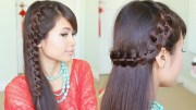 unique 4-strand lace braid hairstyle