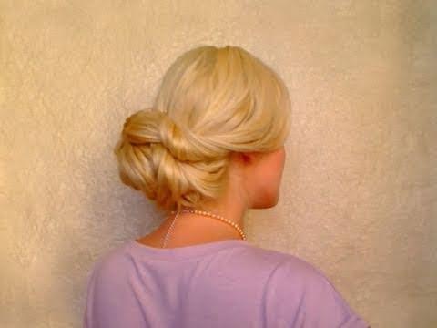 wedding hairstyles for long hair tutorial easy elegant updo fryzura na dlugie wlosy qtiny