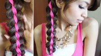 4 Strand Ribbon Braid Headband Hairstyle for Medium Long ...