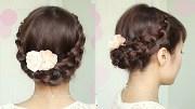 crochet stitch updo hairstyle