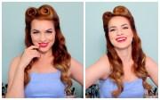 1940 50 pinup hair and makeup