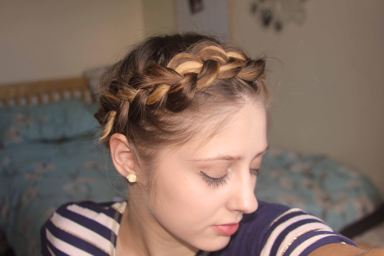 Short, fine hair tutorial: Easy Crown Braid / Plait