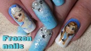 disney inspired; frozen nail art