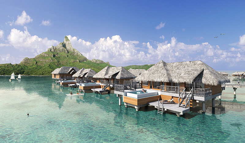 New Overwater Bungalows At Intercontinental Bora Bora