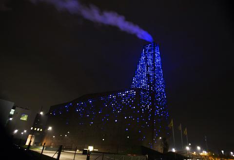 lysfest lights denmark energy tower