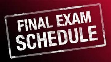 جدول الامتحانات النهائية للعام الدراسي 2017 – 2018 // الدور الاول // الفصل الاول