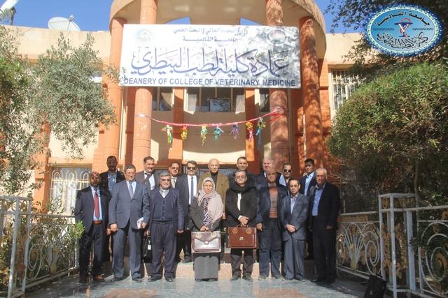 كلية الطب البيطري /جامعة القادسية تستقبل اللجان الوزارية الخاصة باستحداث الدراسات العليا في الكلية