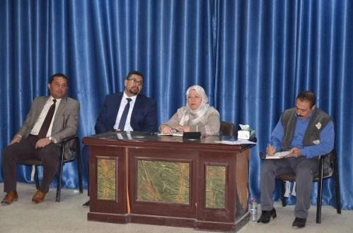 رئيس جامعة القادسية يلتقي بأساتذة كلية الفنون الجميلة ويشيد بالتطور الحاصل فيها
