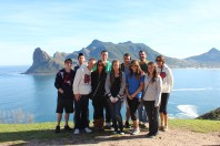 Class in front of Hout's Bay. Back (L to R): Evan, Mark, Bobby, Ryan, Peter, Jazmin Front (L to R): Vinny, Larisa, Chrystal, Michelle, Emily Cape Peninsula Tour